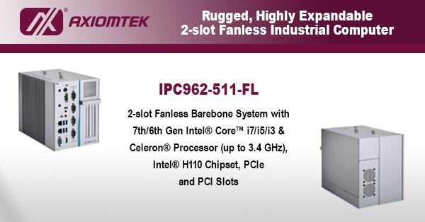 Axiomtek-RuggedHighlyExpandable2-slotFanlessIndustrialComputer-600x314